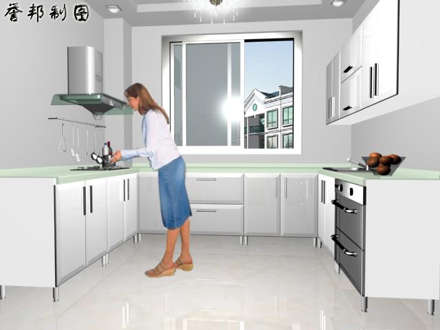 墙厨衣柜的实景图