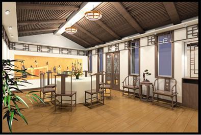中式餐廳包房效果圖 圖片合集