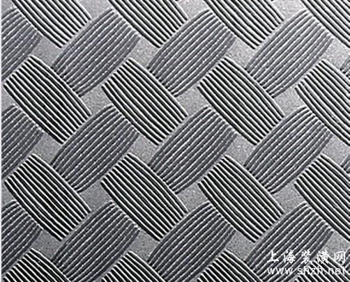 供应不锈钢编织纹花纹装饰板—不锈钢防滑压纹板