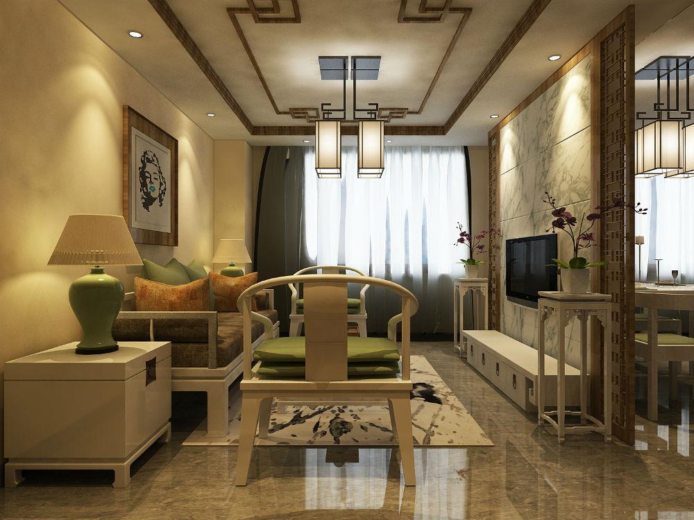 H08.新中式风格一室两厅