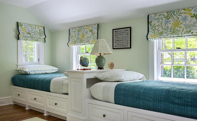 """双子星""""儿童房设计 一房两床的温馨图片"""