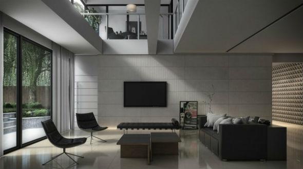 现代风格大气客厅 时尚设计效果图高清图片