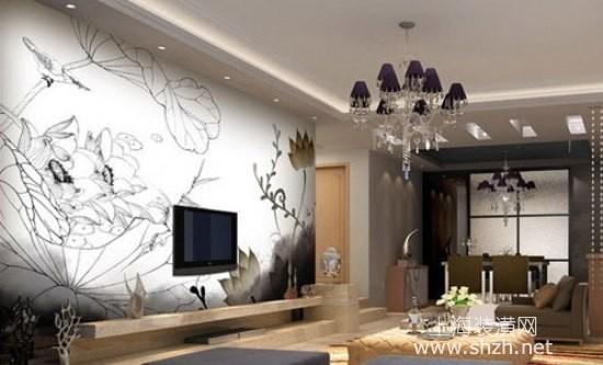 2014年最流行单身公寓客厅电视背景设计