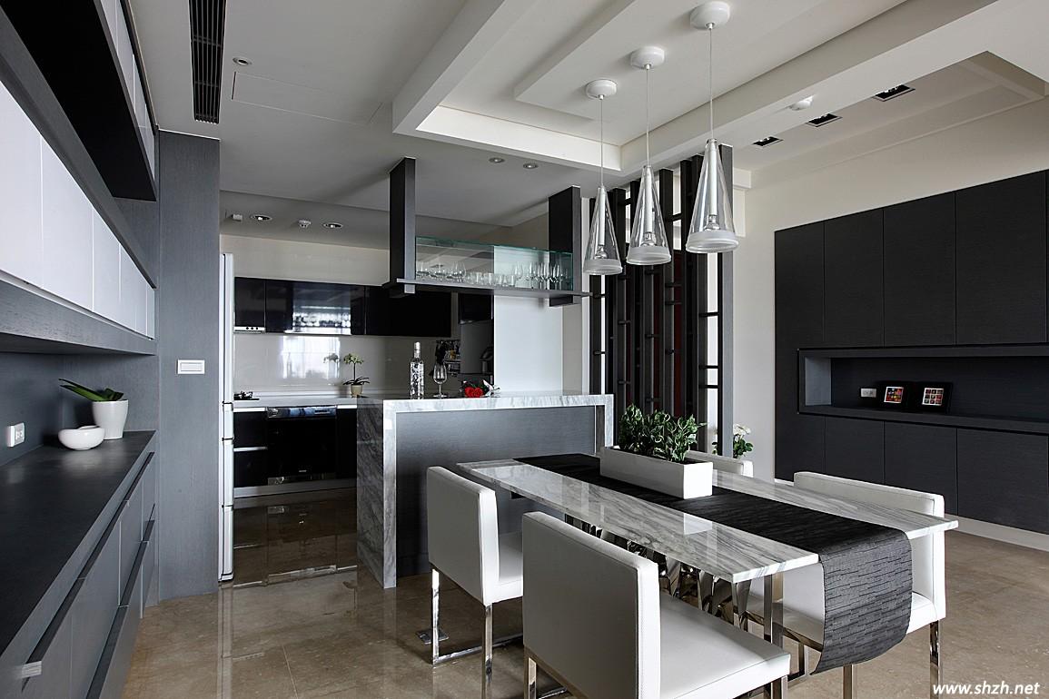 开放式厨房客厅隔断有效果吗?图片