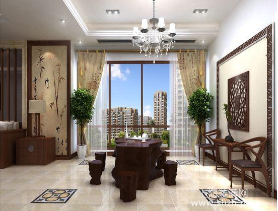 2015年别墅装修设计新中式风格装修案例欣赏-上海品竹