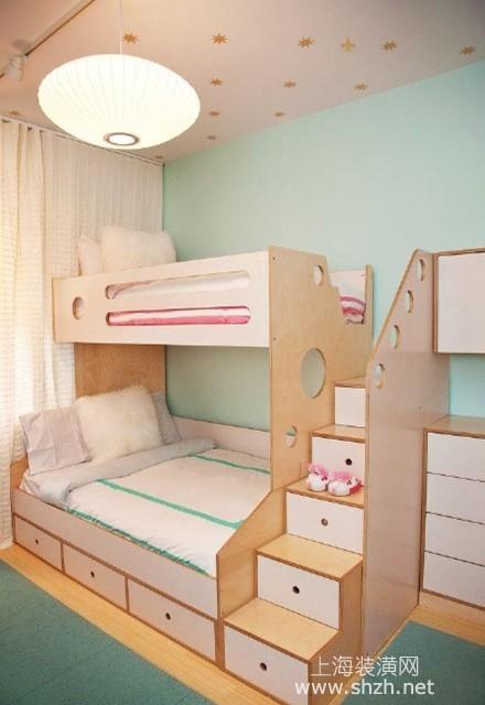 欧式风格上下铺儿童房设计 给孩子一个明亮清新小房间图片