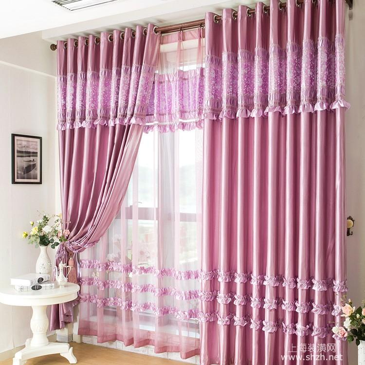 饰有花边的窗帘不适合用力清洗