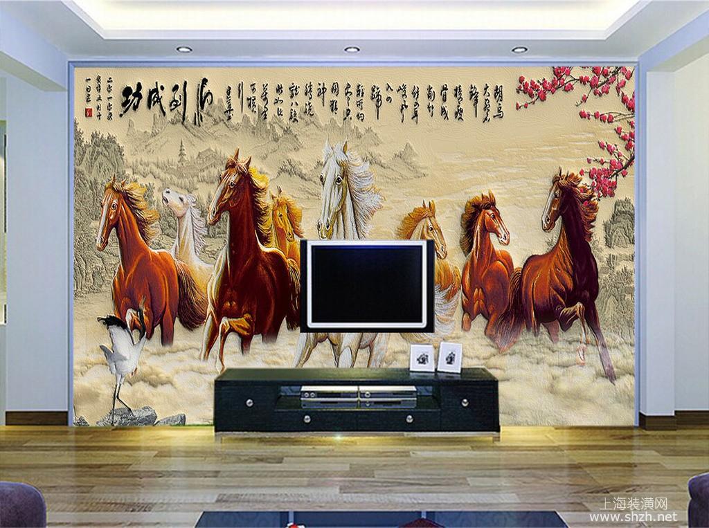 变出时尚硅藻泥电视背景墙
