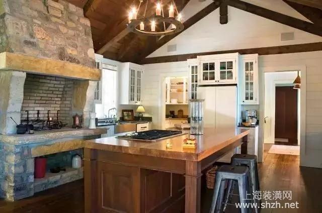 美式乡村田园风格厨房设计说明