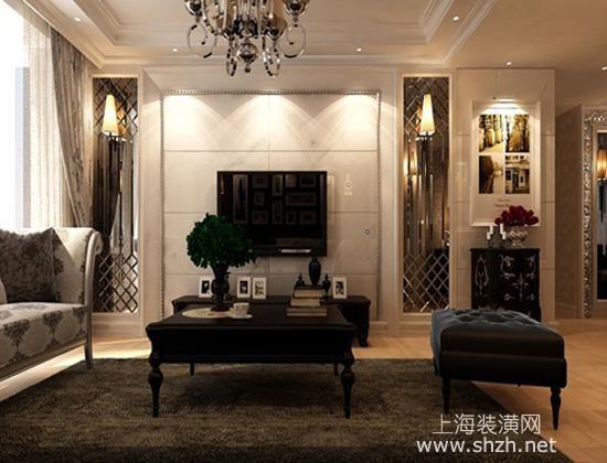 2016最新客厅石材电视背景墙装修