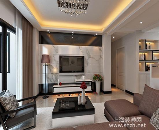 2016最新客厅石材电视背景墙装修高清图片