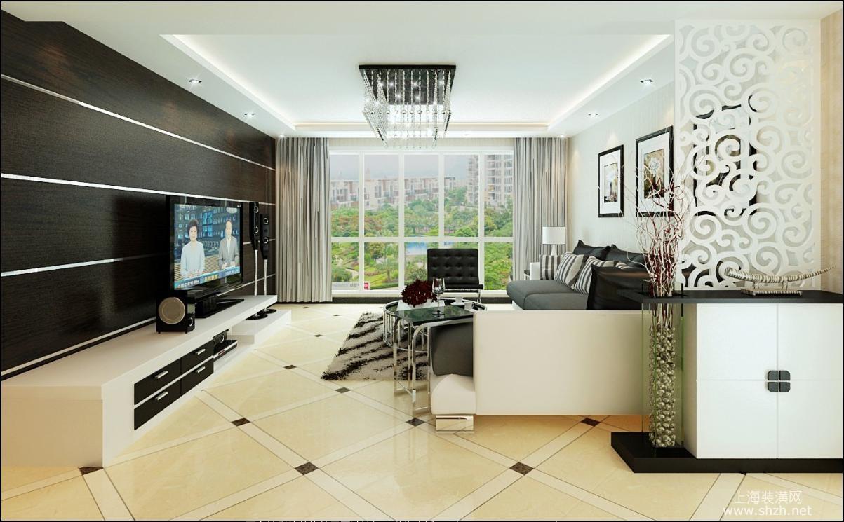 2016最新客厅背景墙造型 凹造型看装修效果图高清图片