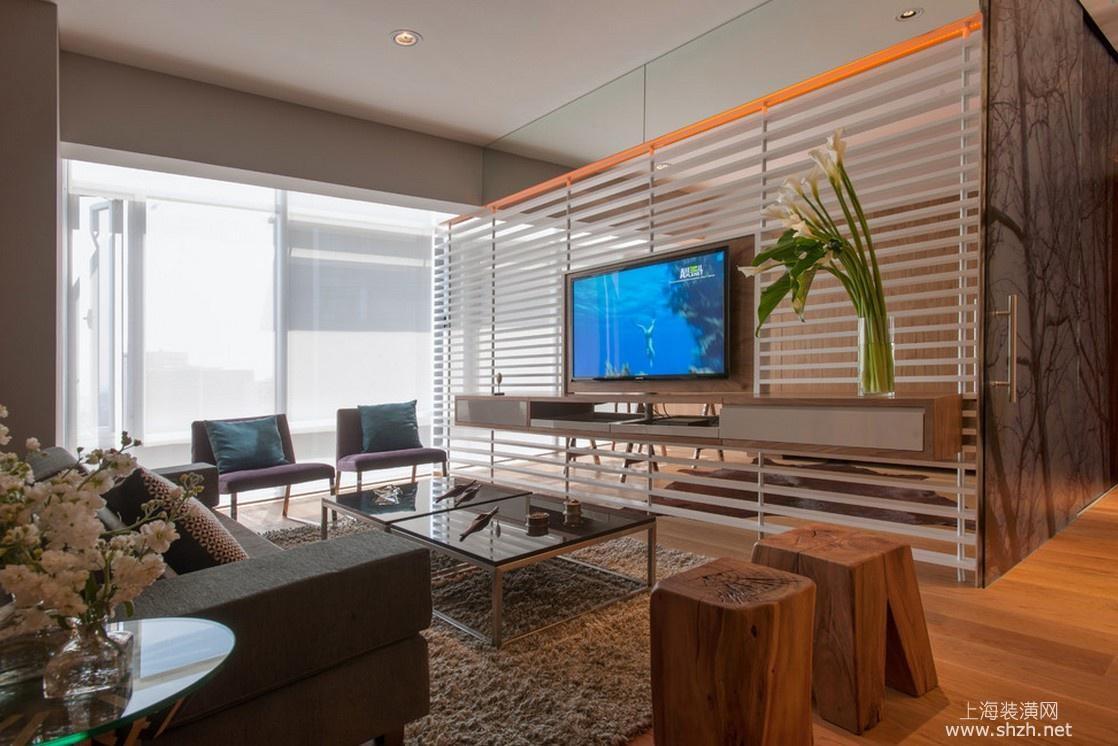 玻璃,金属材质客厅背景墙