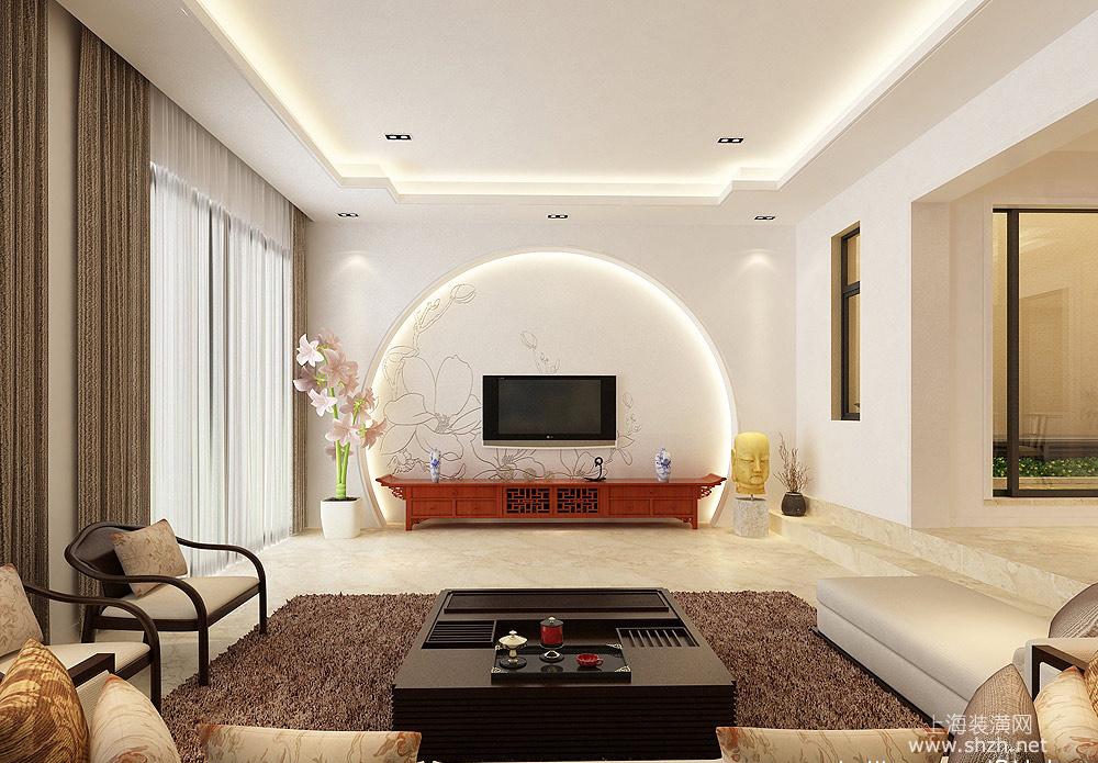 2016最新客厅背景墙造型 凹造型看装修效果图