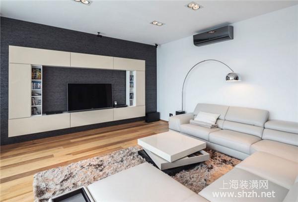 2016年现代简约风格客厅电视背景墙