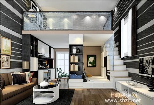 色彩图案点亮空间 复式小户型装修设计(二)_上海装潢