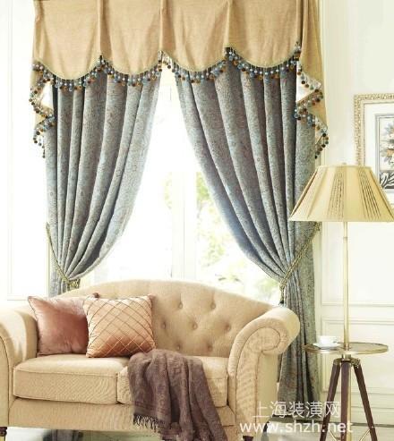 现代简约家居 布艺窗帘样式效果图片
