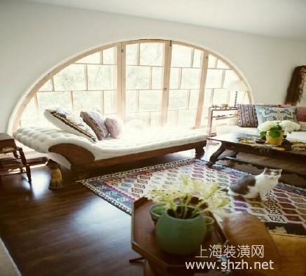 半圆形窗户完美尺度 欧美风格装修设计效果