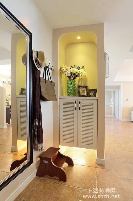 客厅与走廊移门效果图_九款门厅玄关过道装修效果-上海装潢网