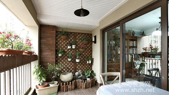 阳台的装修,传统一点——沿用中国传统建筑中的