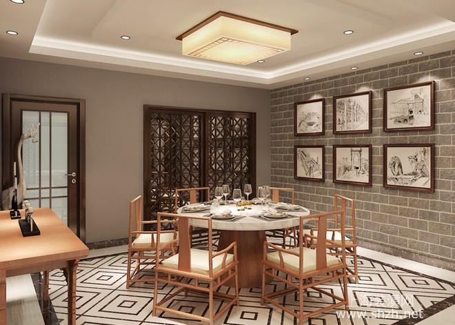 三室两厅中式风格装修效果图 徽派文化魅力图片
