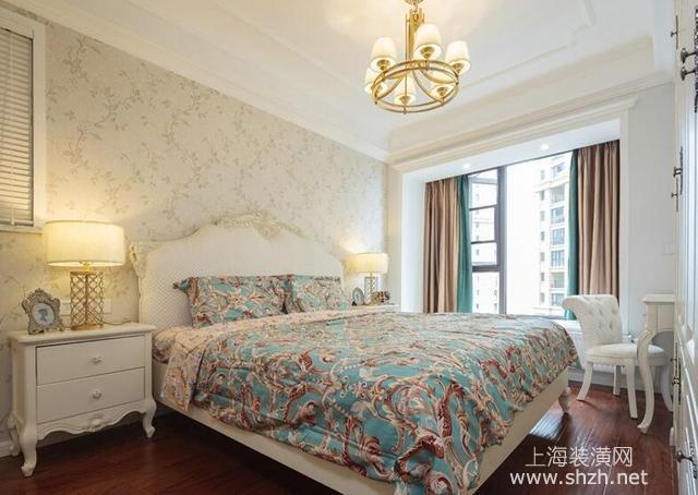 90平舒适美式风格装饰,墙上装石膏线效果就是好图片