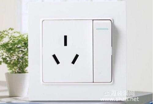 四,带开关的插座接线示意
