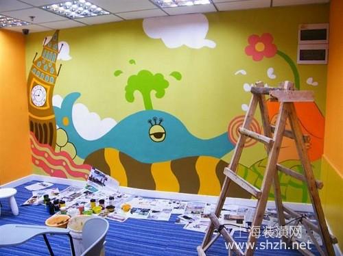 手绘涂鸦墙环保吗?手绘墙用的是什么材料?
