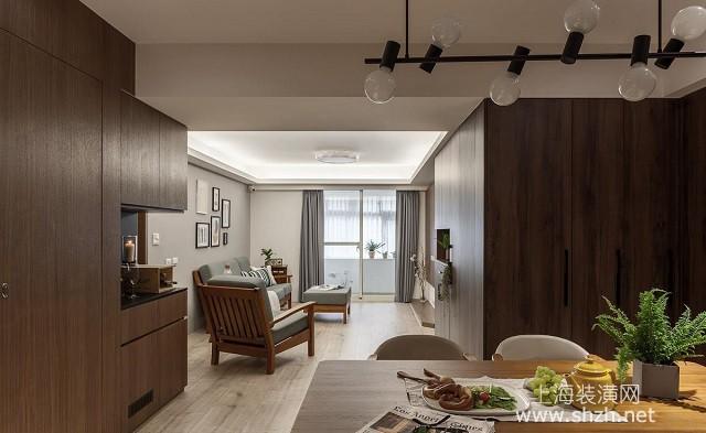 现代原木风的精心装饰 114平温馨家居设计