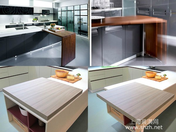 厨房装修设计秘籍二、将厨房机能隐藏于无形 小家庭的开放式厨房,往往与客厅、起居室融合为一,利用折叠拉门,将厨具配备彻底隐藏,同时兼顾美型与不同风格需求,厨房机能却丝毫不减。与客厅融合为一的厨房,以4+1滑门,隐藏厨具,轻轻一推,不仅机能充足,空间美感也不打折。可收纳的折叠式门片,让厨具配备隐藏于无形。 厨房装修设计秘籍三、灵活的模组化厨具,兼顾实用与美感 厨房琳瑯满目的瓶瓶罐罐、锅碗瓢盆,一不小心,就成为家中乱源,牛家易建材商城灵活的模组化厨具,每个组件皆可抽换,连台面部件的拆卸、组装也很容易,可因应不