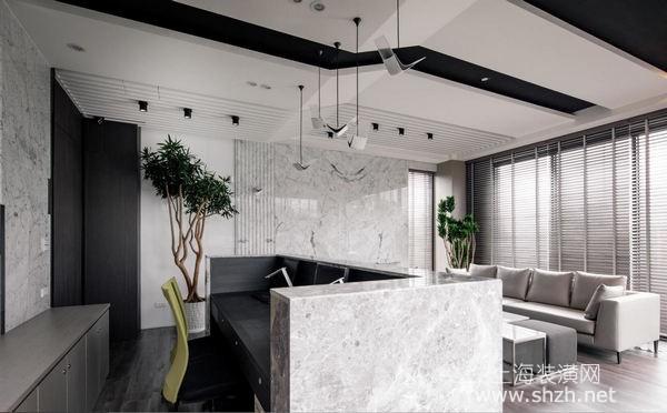 这并非豪宅客厅,创意现代风让办公室大厅装修效果更新潮