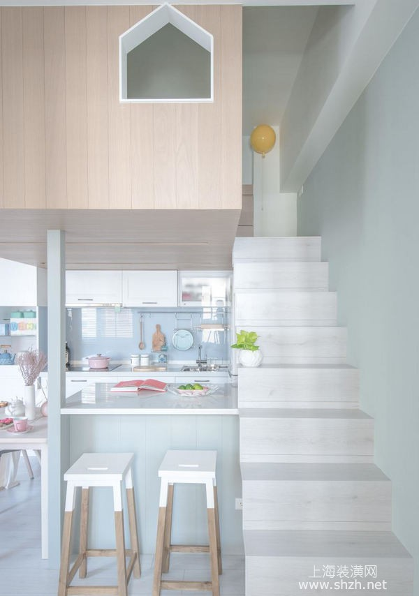 60平米loft户型装修案例:小户型也可以住的很舒适