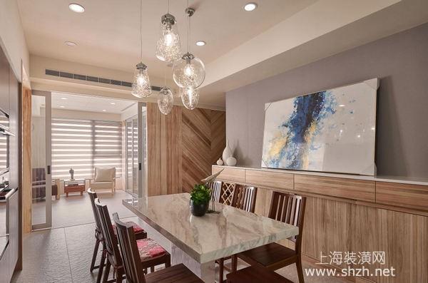 毛坯房装修案例:巧用纹路材质,打造温暖知性舒适空间