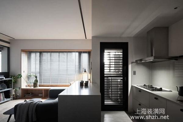 50平米小户型装修设计:中性简约风格将空间各项功能隐于无形