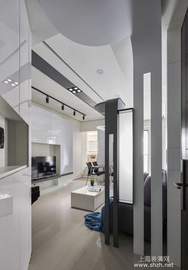 扇形結構房子裝修設計:現代風引入動漫元素打造趣味空間