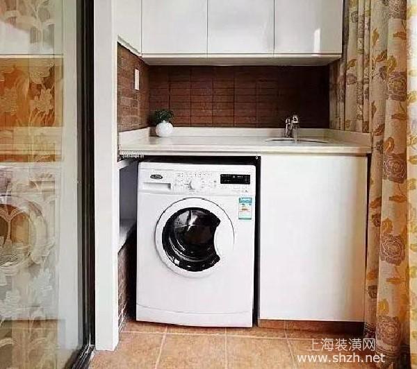 阳台洗衣柜实用设计方案,这样用着才方便图片