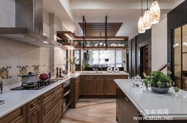 双层别墅装修设计:东方传统元素与美式风格混搭雅致有特色