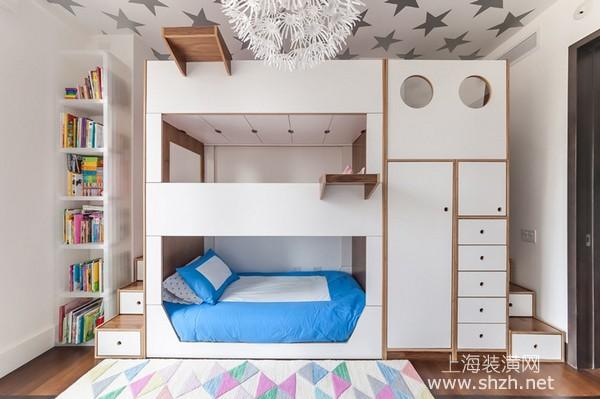 室内装饰家具篇:三层床了解一下,帮助解决大家庭困扰