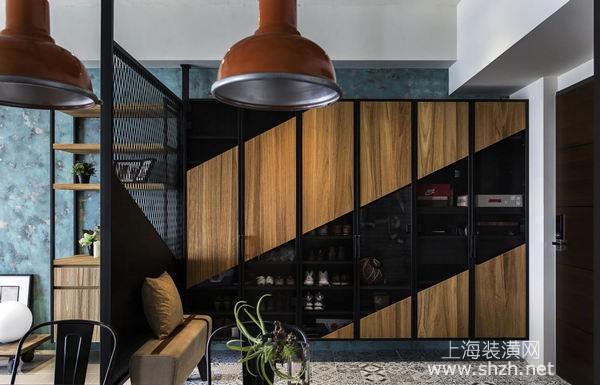 现代时尚工业风装修设计:金属、木纹加青铜艺术,风格别具