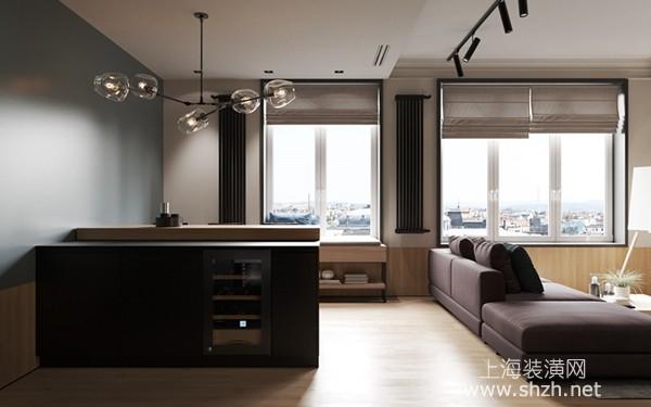 深色系住宅装修设计案例:自然散发出高雅品味