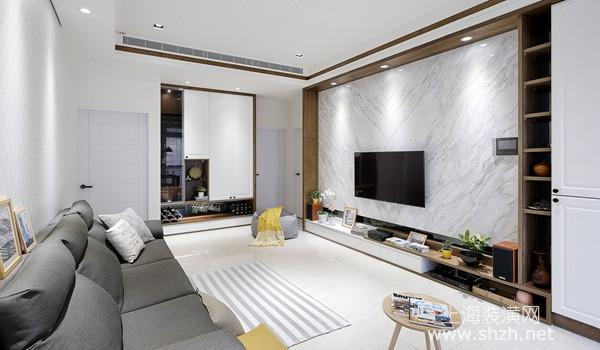 80平米美式度假风装修案例,系统家具打造高坪效质感宅