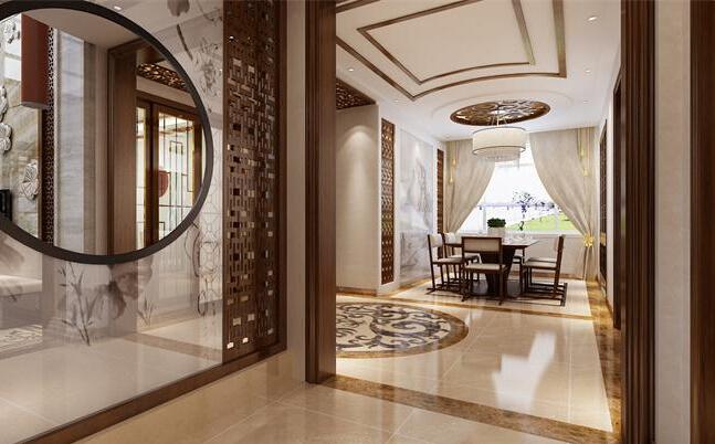 经典的独栋别墅装修设计:新中式风格装修效果图