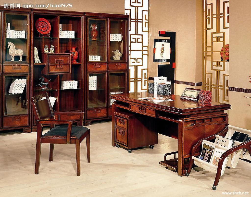 Luxurious Design 古典书房实景图 上海装潢网