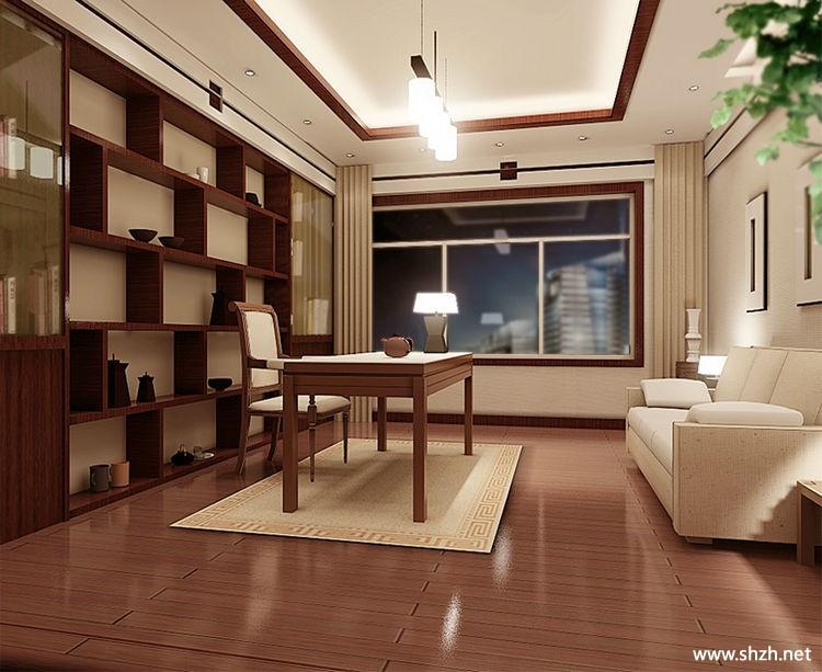 冷色別墅書房-上海裝潢網