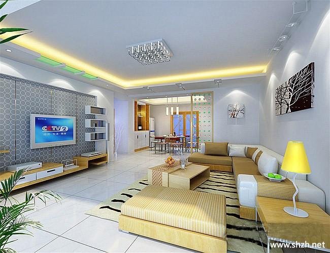 暖色客厅效果图