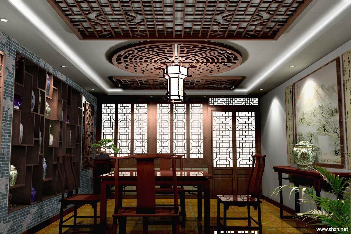 中式餐厅效果图
