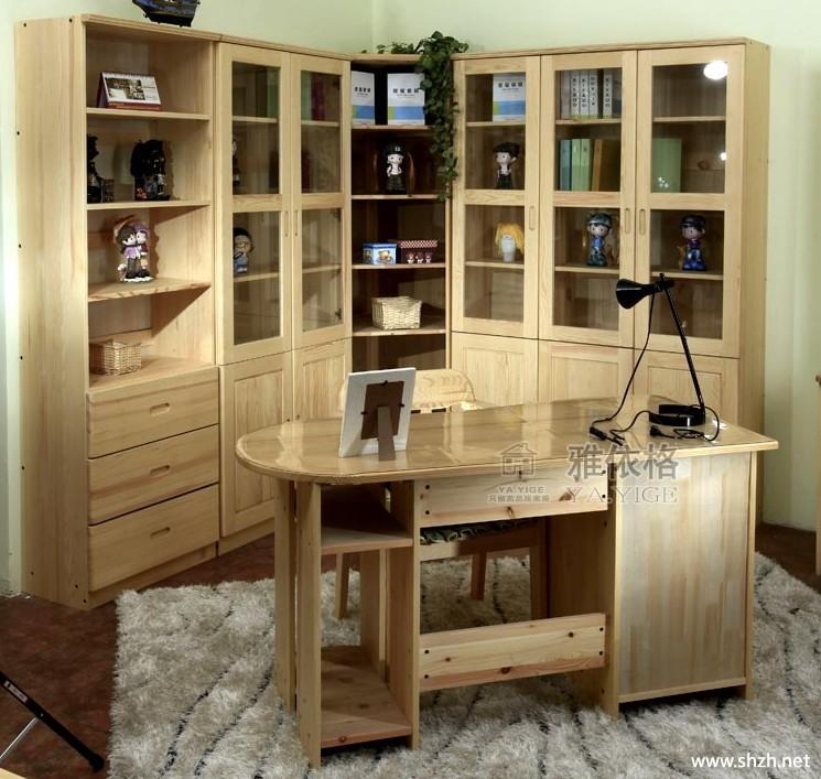 实木书桌电脑桌学习桌写字台办公桌-上海装潢网