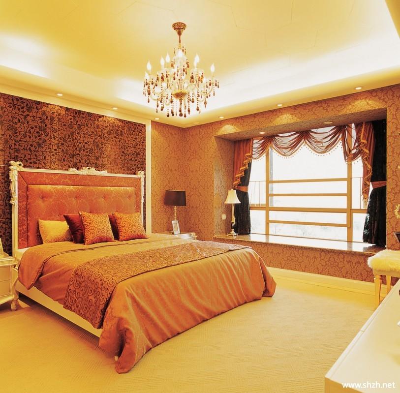 欧式豪华卧室实景图-上海装潢网