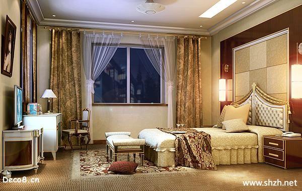 欧式卧室效果图-上海装潢网