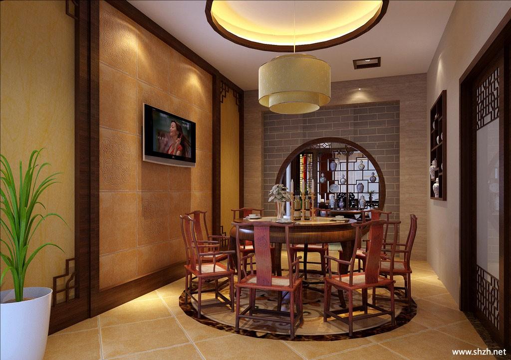 中式餐馆包房效果图高清图片